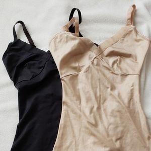 Two Spanx Camis (One nude, one black)